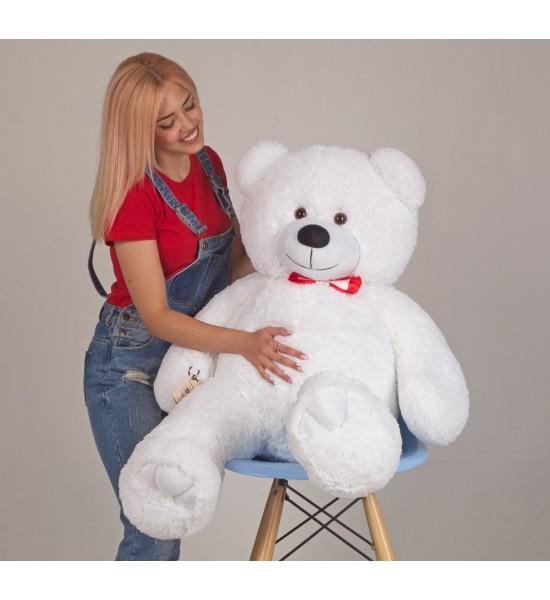 Плюшевый мишка Mister Medved Хеппи 130 см Белый