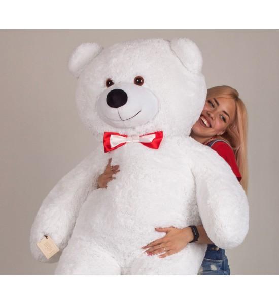 Плюшевый медведь Mister Medved Ларри 160 см Белый