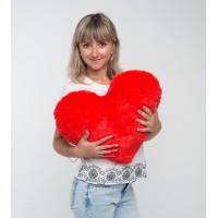Плюшевая игрушка Mister Medved Подушка-сердце Красная 50 см