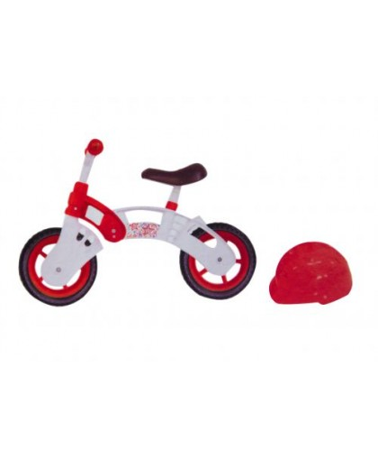 Беговел Star Bike с шлемом 10 (бело-красный) KW-11-013