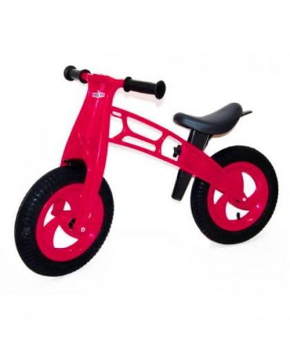 Беговел Cross Bike с надувными шинами 12 (малиновый) KW-11-018 КР
