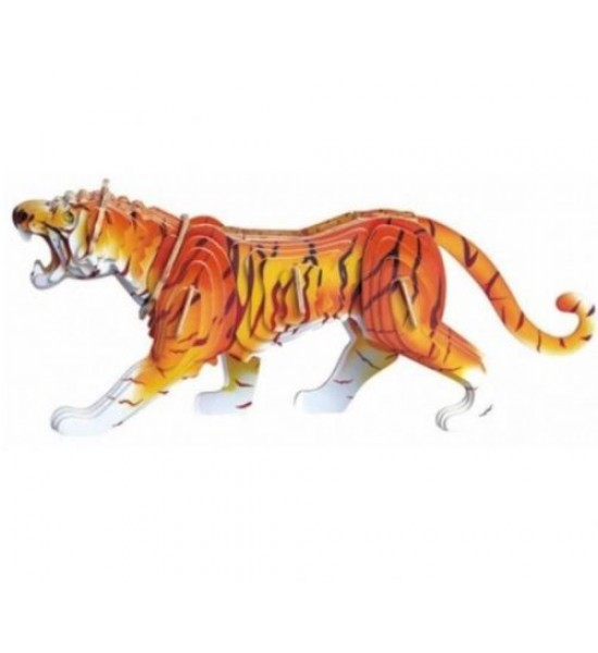 Деревянный конструктор Тигр (цветной) М003с