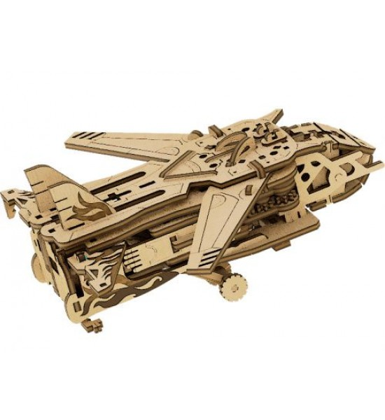 Деревянный конструктор Трансформер: Робот-самолет 119 эл 10103