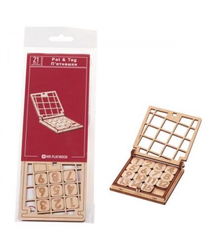 Деревянный конструктор Игра. Пятнашки 21 эл 10027