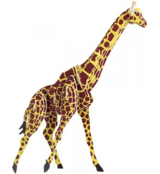 Деревянный конструктор Жираф (цветной) М020с