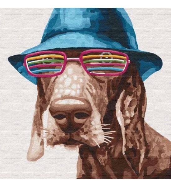 Картина по номерам Стильный пёс ★★★★ КНО4193