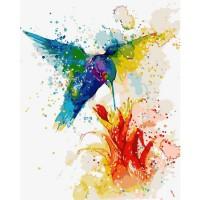 Картина по номерам Разноцветный колибри ★★★★ VA-0686