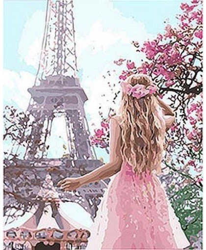 Картина по номерам Влюблённая в Париж 2 ★★★★ КНО4568