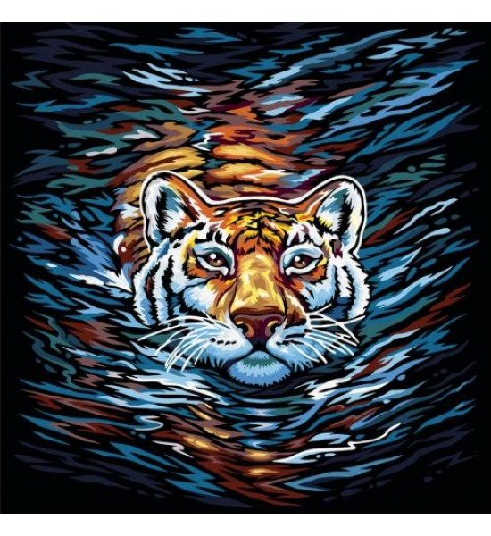 Картина по номерам Тигр укр KpN-02-01U02U03U...10U