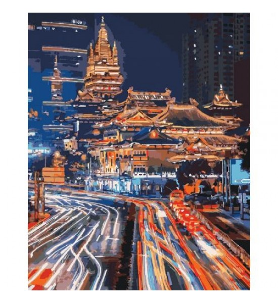 Картина по номерам Ночной Шанхай ★★★★★ КНО3543