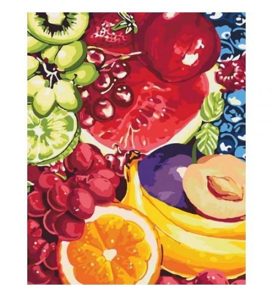 Картина по номерам Сладкие фрукты КНО2937