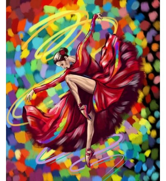 Картина по номерам Яркий танец укр KpN-01-05U