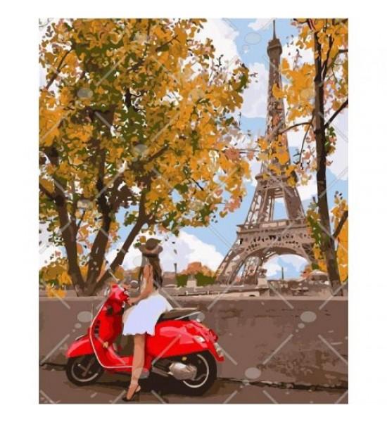 Картина по номерам Впервые в Париже ★★★★ КНО4581