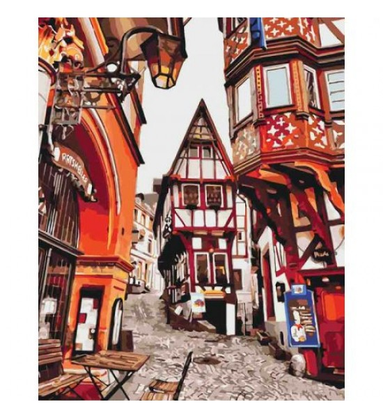 Картина по номерам Яркие улицы Германии ★★★★ КНО3539