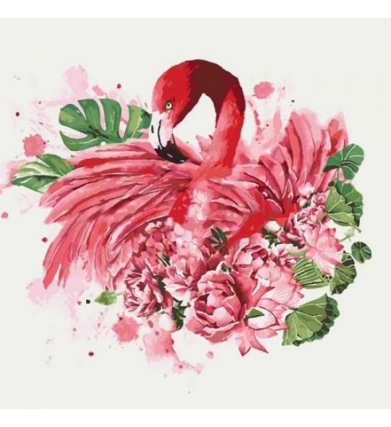 Картина по номерам Грациозный фламинго КНО4042