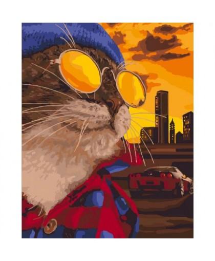 Картина по номерам Дерзкий кот КНО4127