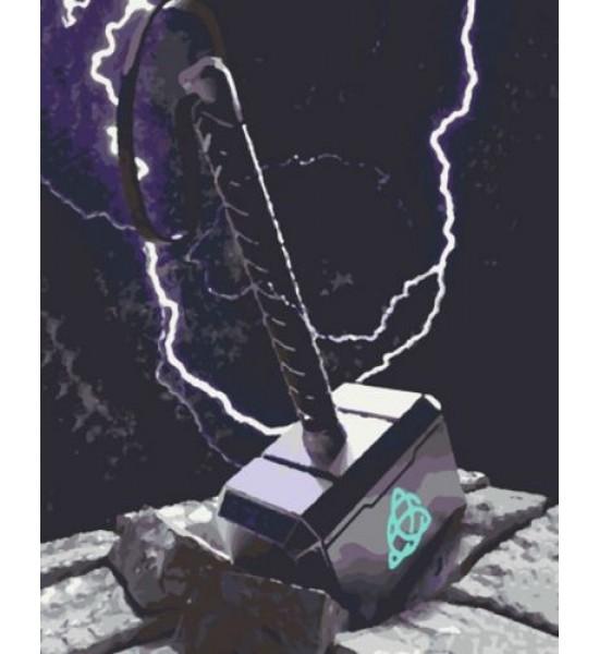 Картина по номерам Молот Тора RB-0126