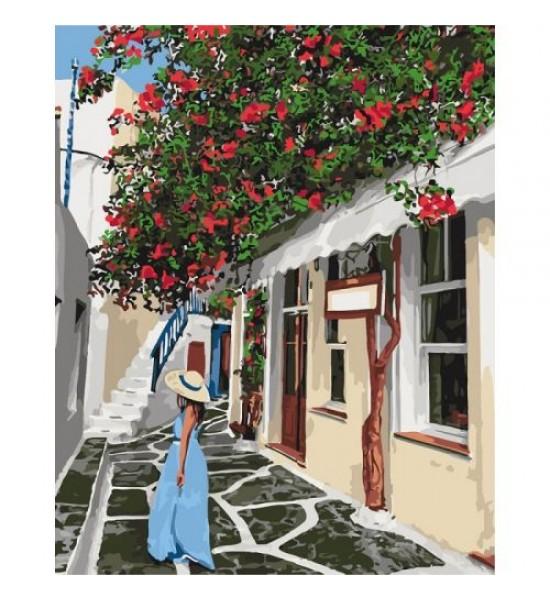 Картина по номерам Уютными улочками КНО2263