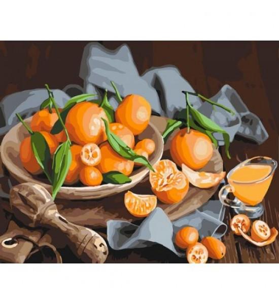 Картина по номерам Оранжевое наслаждение ★★★ КНО5545