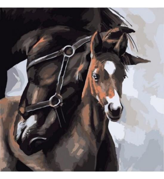 Картина по номерам Мать и ребенок КНО2475