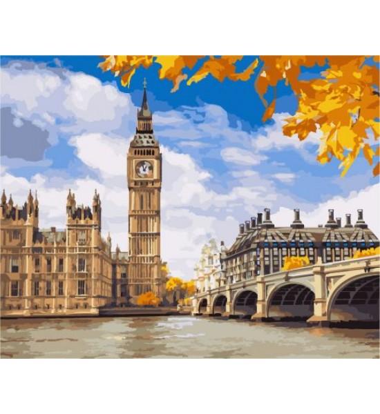 Картина по номерам Осенний Лондон ★★★ КНО2134