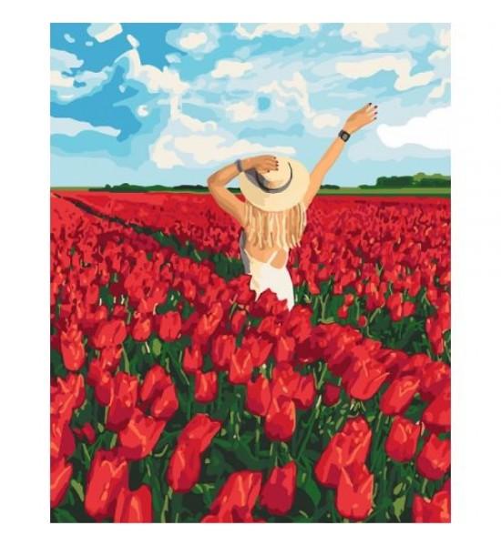 Картина по номерам В плену цветов ★★★★ КНО4721