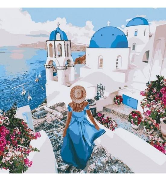 Картина по номерам Незабываемый Санторини ★★★★★ КНО4729