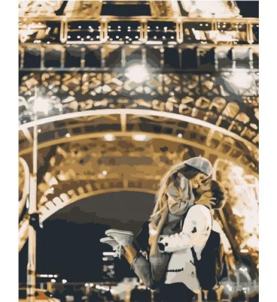 Картина по номерам Поцелуй в Париже ★★★★ VA-1531