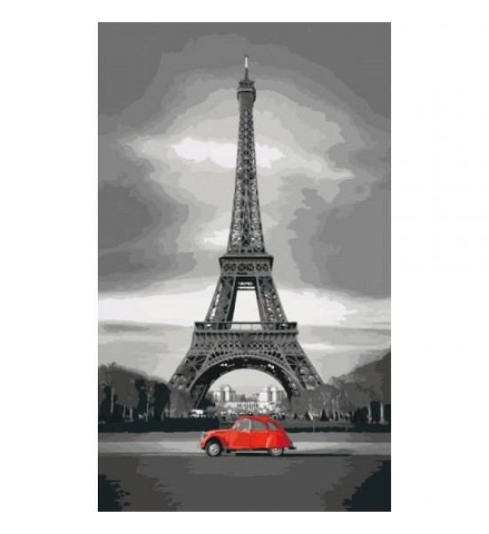 Картина по номерам Париж ★★★ КНО2147