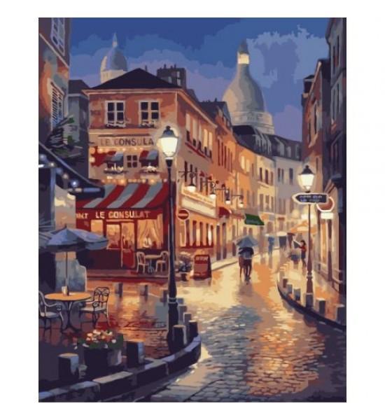 Картина по номерам Прогулка по вечернему Парижу ★★★★ КНО2116