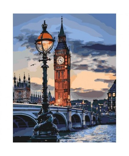 Картина по номерам Лондон в сумерках ★★★★ КНО3555