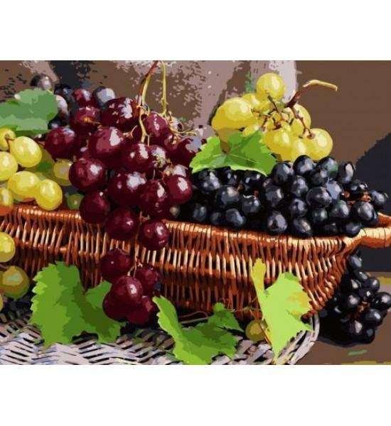 Картина по номерам Виноградный натюрморт ★★★★ VA-1691