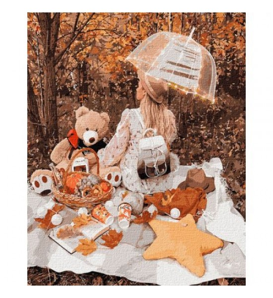 Картина по номерам Осенний пикник ★★★★★ КНО4778