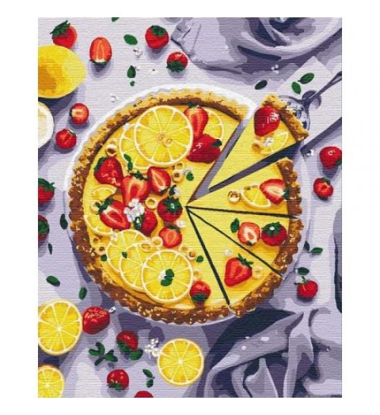 Картина по номерам Лимонный пирог ★★★★★ КНО5594