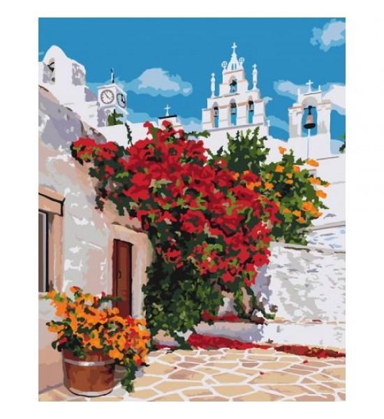 Картина по номерам Цветущая Греция ★★★★ КНО3577