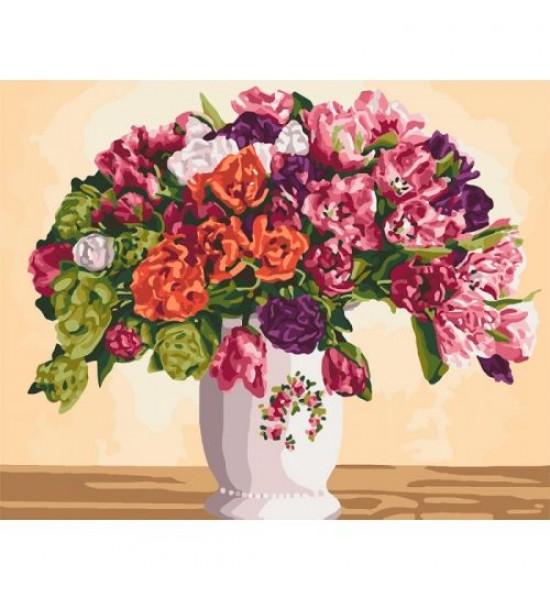 Картина по номерам Пышные тюльпаны ★★★★ КНО3075
