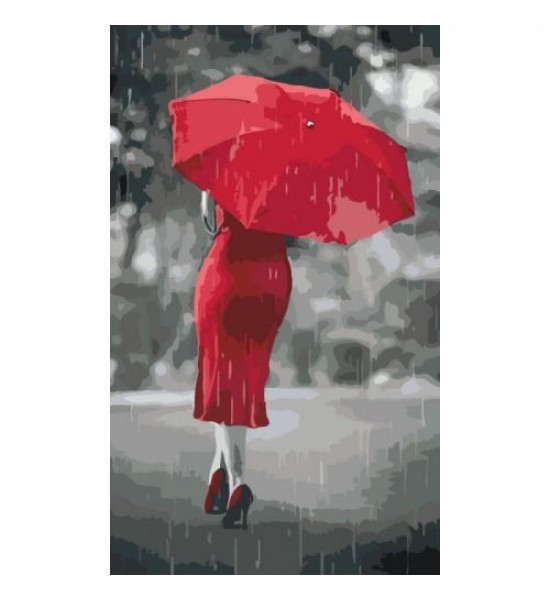 Картина по номерам Красный зонтик ★★★ КНО2655