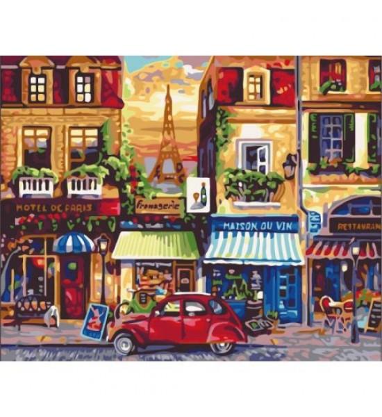 Картина по номерам Улицами Парижа ★★★★ КНО2189