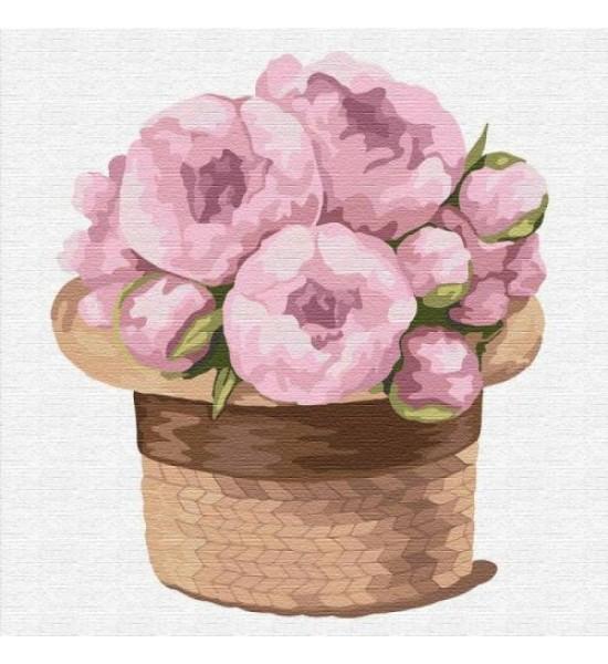 Картина по номерам Волшебный букет пионов ★★★ КНО2350