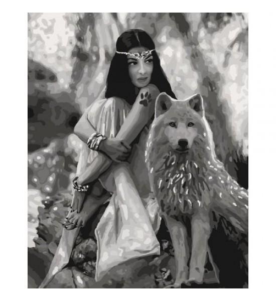 Картина по номерам Волчица ★★★★ КНО4139