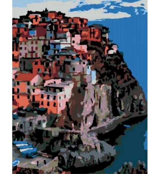 Картина по номерам Италия г. Манарола ★★☆ N00013170
