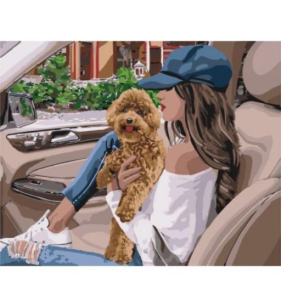 Картина по номерам Пушистый любимец ★★★★ КНО4708
