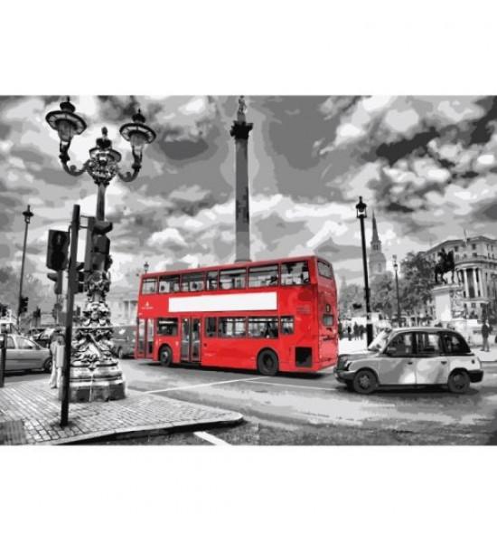 Картина по номерам Яркий автобус КНО2146