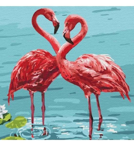 Картина по номерам Яркие фламинго ★★★★ КНО4197
