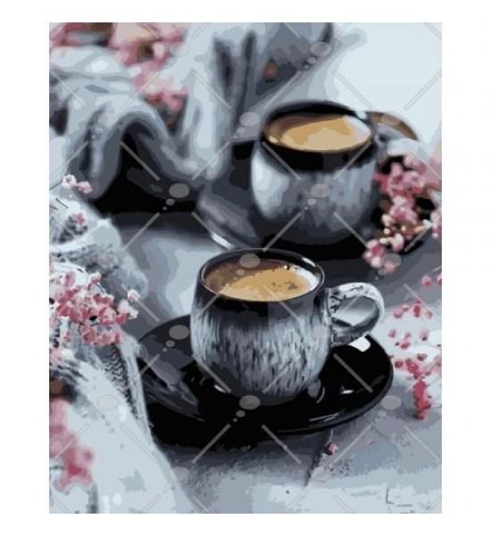 Картина по номерам Кофе на двоих КНО5548