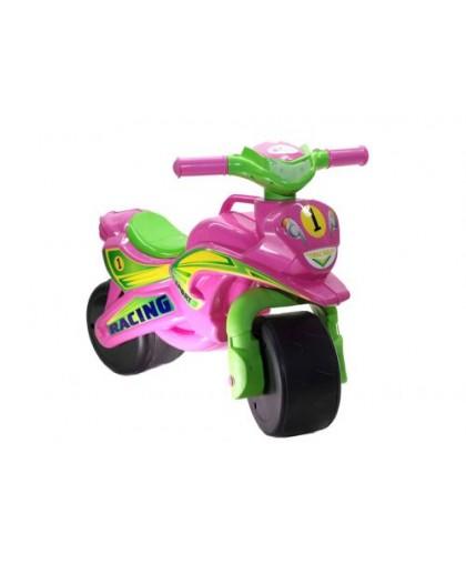 Мотоцикл-каталка Спорт (розовый) музыкальный 0139/3