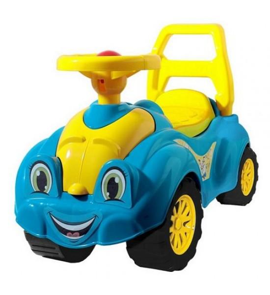 Машинка-каталка для прогулок (голубая) 3510
