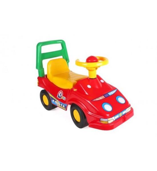 Машинка для прогулок гонщик красный 1196
