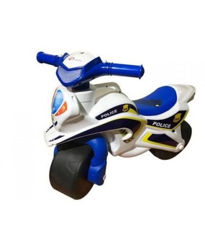 Мотоцикл-каталка Полиция (бело-синий) 0138/510
