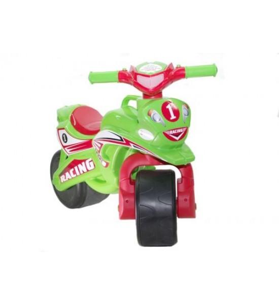 Мотоцикл-каталка Спорт (салатовый) музыкальный 0139/5